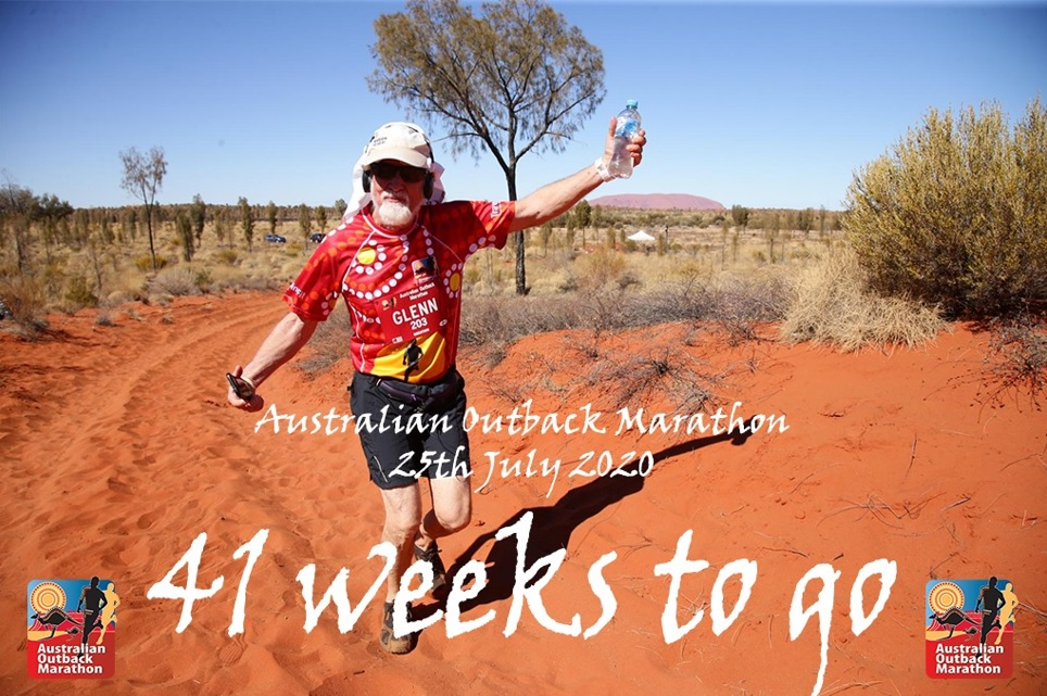 41 weeks to go until the Australian Outback Marathon